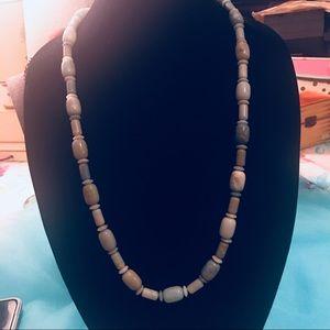 """Natural Aquamarine Gemstone Long Necklace 16"""""""